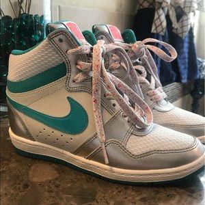 Nike Sky High sneaker wedges!!